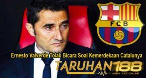 Ernesto Valverde Tolak Bicara Soal Kemerdekaan Catalunya