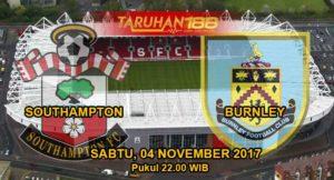 Prediksi Bola Southampton vs Burnley 04 November 2017